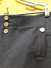Knee Breeches, Size 34 Black- Rendezvous, Mountain Man, Colonial, Pirate