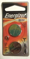 ENERGIZER CR2032 3 VOLTS LITHIUM BATTERIES NEW 2 PACK FREE SHIPPING EX 2023