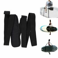 Stand Up Paddle Board Handle Surfboard Carrying Retractable Nylon Handle Black