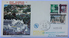 ALGERIE SURCHARGEE EA 1962 ALGER RP ENVELOPPE PREMIER JOUR FDC    EA32