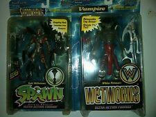 Todd McFarlane's Spawn/Wetworks 1996 Figures Shadowhawk & Vampire New & Sealed