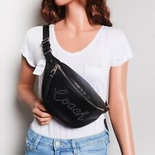 NWT Coach F88875 Pebble Leather Belt Bag Fanny Pack with Studded COACH Script