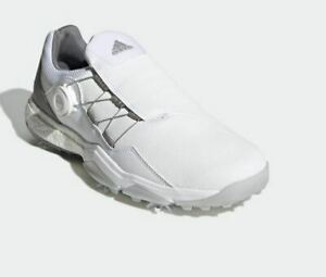 Adidas PowerWrap Boa 6-Spikes Medium Golf Shoe Men's 2020 White EG5302