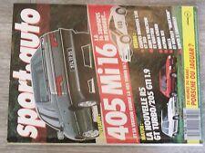 $$$ Revue Sport auto N°305 405 Mi 16R5 GT TurboMercedes 230Audi 90 Tractio