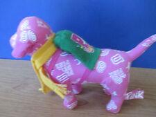 Victoria's Secret~PINK~Plush Pink VARSITY 86 w/ Scarf & Backpack PUPPY DOG