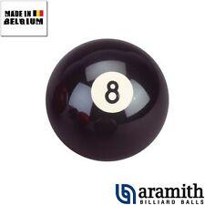 Boule de billard, bille de billards noire Aramith numero 8 de 57,0mm