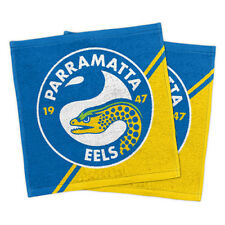 Parramatta Eels NRL Face Washer set of 2 Towel Washcloth Flannel Christmas Gift