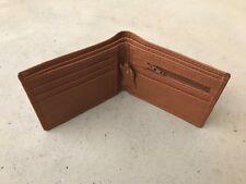 Mens Wallet Tan Brown Purse Handmade Card Holder Bi fold Supreme Leather Wallet