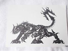 A4 Art Marker Pen Sketch Drawing Transformers Ravage from Revenge of The Fallen