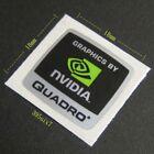 "Nvidia Sticker - ""GRAPHICS BY NVIDIA QUADRO STICKER 18 x 18mm"" - NEW  GENUINE"