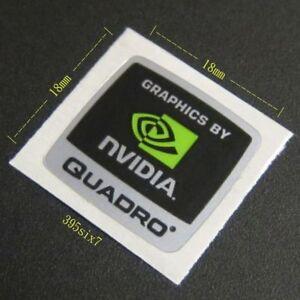 "Nvidia Sticker -  ""GRAPHICS BY NVIDIA QUADRO STICKER 18 x 18mm""  - NEW & GENUINE"
