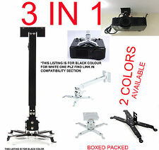 UNIVERSAL PROJECTOR CEILING WALL MOUNT BRACKET TILT EXTENDABLE FOR OPTOMA SMART