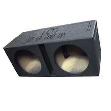 "Subwoofer Sub Box Dual 12"" Vented Ported Bedliner Spray Car Speaker Enclosure"