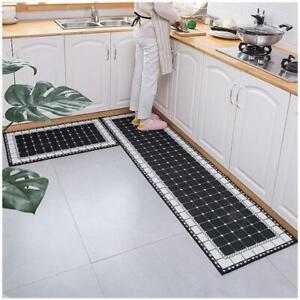 Modern Anti-slip Home Kitchen Mat Bedroom Cartoon Soft Solid Rug Hallway Carpet