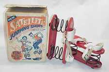 1950'S SPACE AGE RACE SPUTNIK ERA RAPAPORT BROS SATELITE JUMPING SHOES WITH BOX