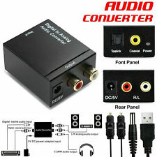 Optical Coaxial Toslink Digital to Analog Audio Converter Adapter L/R RCA USB HL