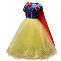 Children Girl Snow White Dress Girls Prom Princess Dress Kids Baby Gift Party