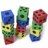12 Stueck Schaumstoff Wuerfel spielen - zufaellige Farben GY B8Y2