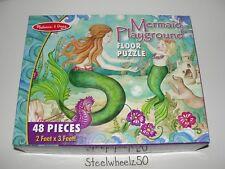 Mermaid Playground Floor Puzzle COMPLETE Melissa & Doug #4436 2 Feet X 3 Feet