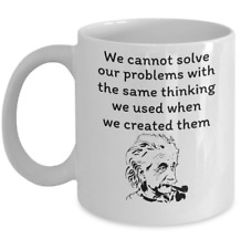 Science Physics coffee mug - Albert Einstein inspirational quote scientist gift