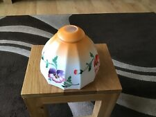 vintage victorian Glass Lampshade