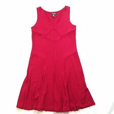 Lauren by Ralph Lauren Red Sleeveless V-Neck Slinky Dress Women's s L