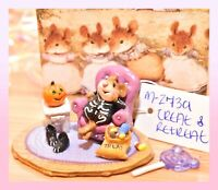 ❤️Wee Forest Folk M-273a Treat & Retreat Halloween Skeleton Mouse Retired WFF❤️