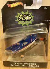 Hot Wheels Batman Classic TV Series Batboat With Trailer