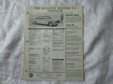 1963 Mercury Meteor V-8 service tips and lubrication guide chart BA