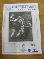23/04/1996 Rothwell Town v Nuneaton Borough  (Light Marks). Footy Progs/Bobfrank