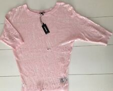 Express Womens Pink Sweater Top  Open Weave Size XS NWT