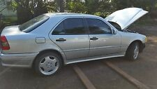 Mercedes W202 95-00 RIGHT BACK / REAR SILVER DOOR DOR SHELL ONLY NO RUST FL CAR