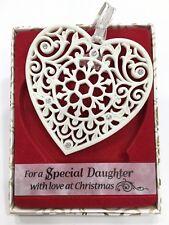 Swarovski®Crystal Keepsake Tree Decoration Merry Christmas Special Daughter Gift