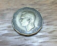 More details for george 6th rare 1949 threepenny in ef condition with lovely colour or lustre