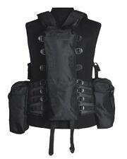 Einsatzweste Tactical 12 Taschen schwarz