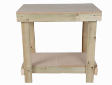 NEW 2FT SQUARE MDF TOP WORKBENCH - HEAVY DUTY & STRONG - WOODEN