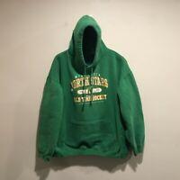 Vintage Minnesota North Stars Hoodie Men's 2XL Green Long Sleeve Pull Over