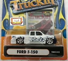 1:64 Muscle Machines TM03-03 TRUCKIN' FORD F-150 Die Cast 2003 White Blue Flames