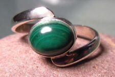 Handmade Natural Malachite Fine Rings