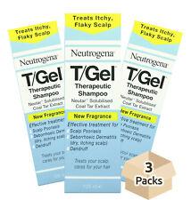3x NEUTROGENA T/GEL Therapeutic SHAMPOO 125ml Scalp Psoriasis Itchy dry