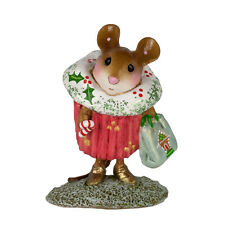 Wee Forest Folk Christmas Cupcake Treat, M-574d, Limited Edition 2016 Mouse