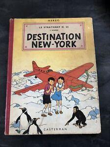 Ancinne bd Hergé Jo Zette & Jocko DESTINEATION NEW-YORK 2c B8 1953 Tintin