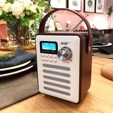 Retro Mini DAB Digital Radio/USB/AUX/Bluetooth Portable Speaker & Alarm Clock