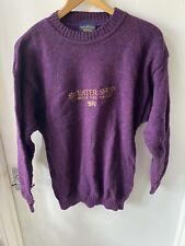 Sweater Shop Cambridge York Windsor Vintage Wool Purple Jumper 90s Size Small