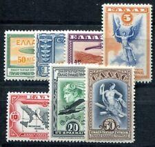 GRIECHENLAND 1933 355-361 * SATZ FLUGPOST (I1524