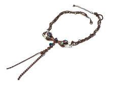 Bijou alliage cuivré collier créateur libellule Marc Labat  necklace