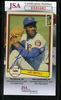 Lee Smith 1982 Donruss Rookie Jsa Coa Hand Signed Authentic Autograph