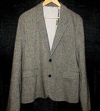 NEU Designer Sakko Jacke Blazer von DKNY Donna Karan Größe L schwarz weiß Luxus