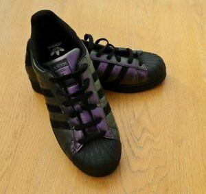 Adidas Superstar Purple Holographic Trainers Size 5.5 (EU 38.5)