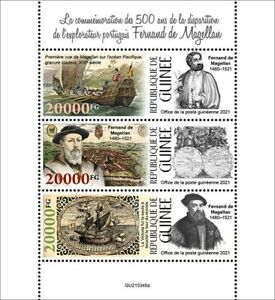 Guinea 2021 MNH Ships Stamps Ferdinand Magellan Exploration Nautical 3v M/S